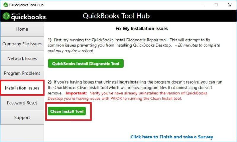 Clean Installation of the Quickbooks Software